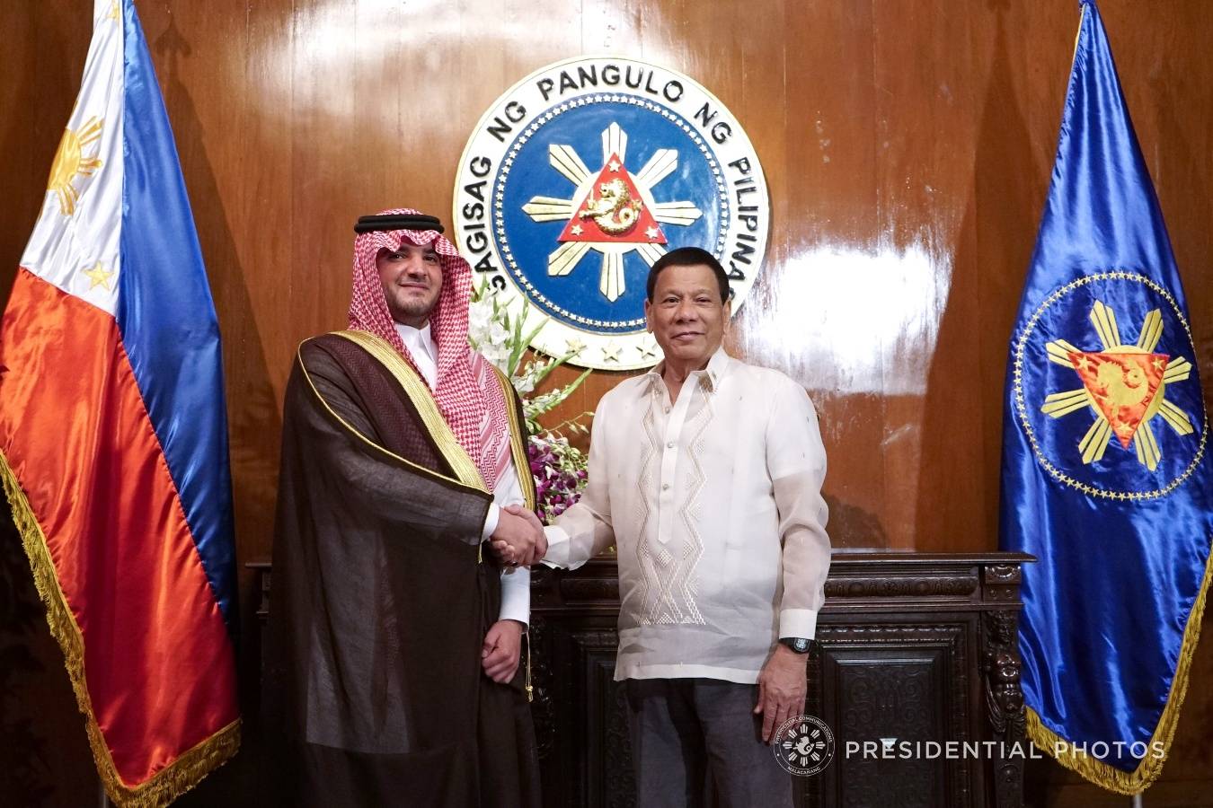 Duterte Welcomes Saudi Prince In Malacanang Philippine Canadian